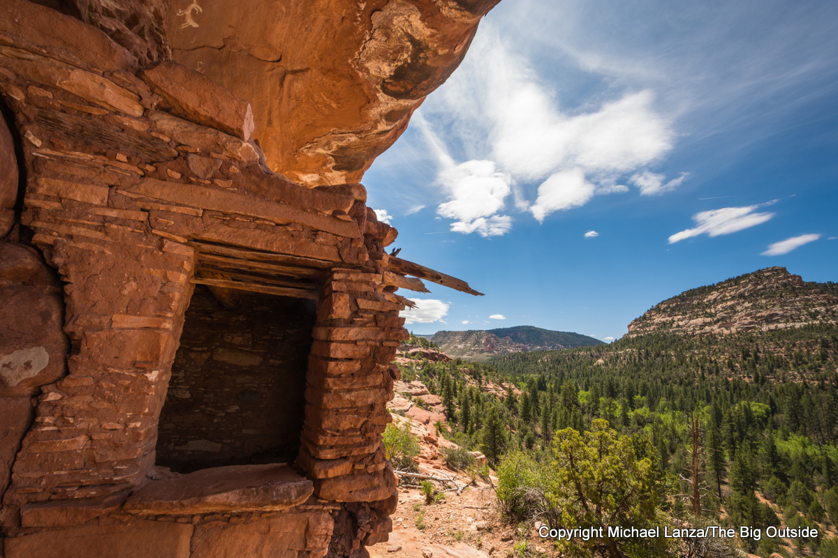 Ancient Puebloan ruins in Woodenshoe Canyon, in Utah's Dark Canyon Wilderness.