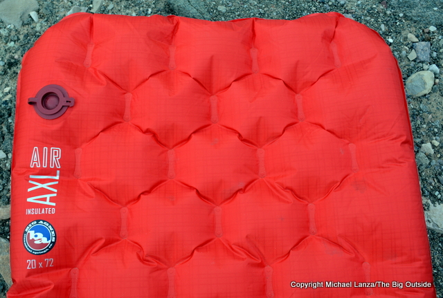 Big Agnes Insulated AXL Air Mattress top end.