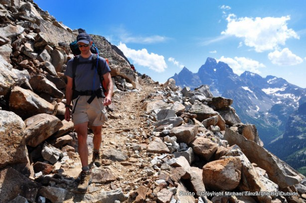 Descending from Paintbrush Divide into the North Fork Cascade Canyon.