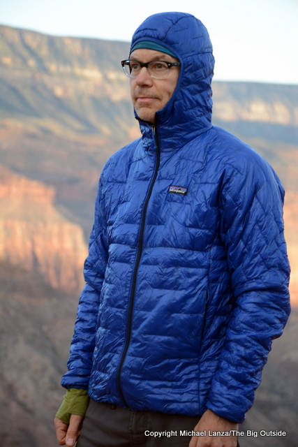 The Patagonia Micro Puff Hoody in the Grand Canyon.