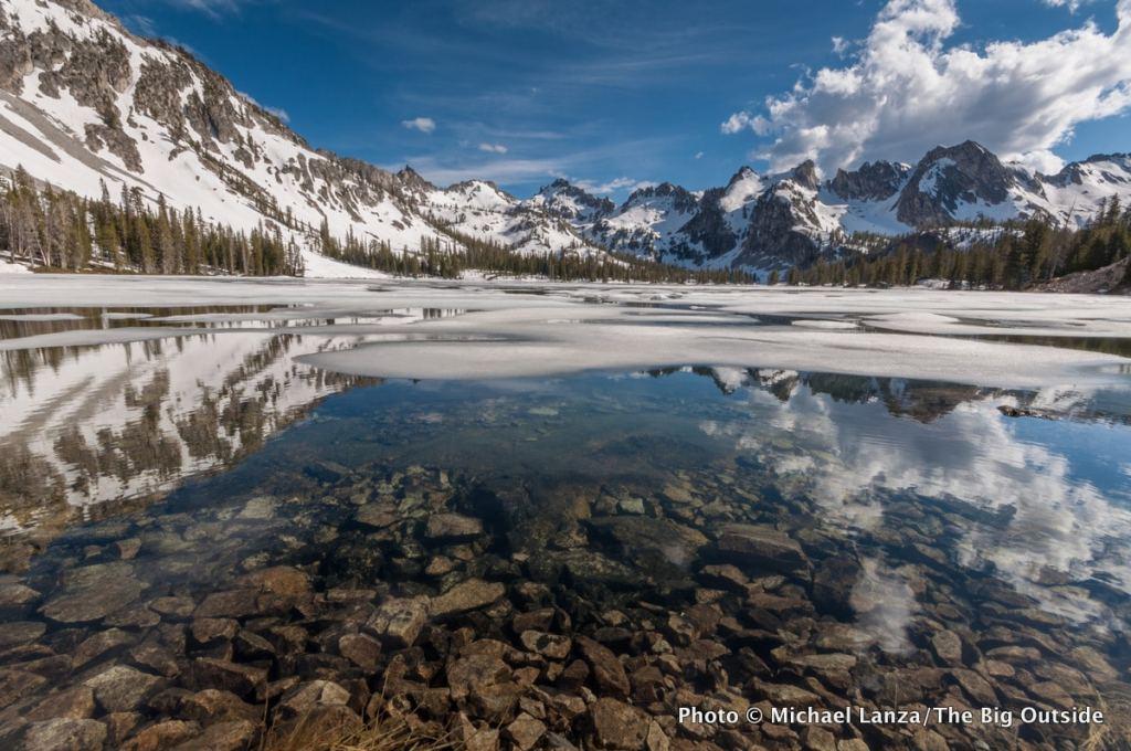 Alice Lake in Idaho's Sawtooth Mountains.