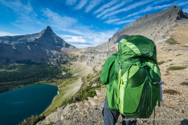 Testing the Osprey Exos 58 in Glacier National Park.