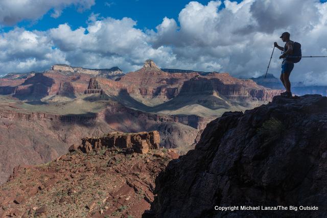 A hiker on the South Kaibab Trail, Grand Canyon.