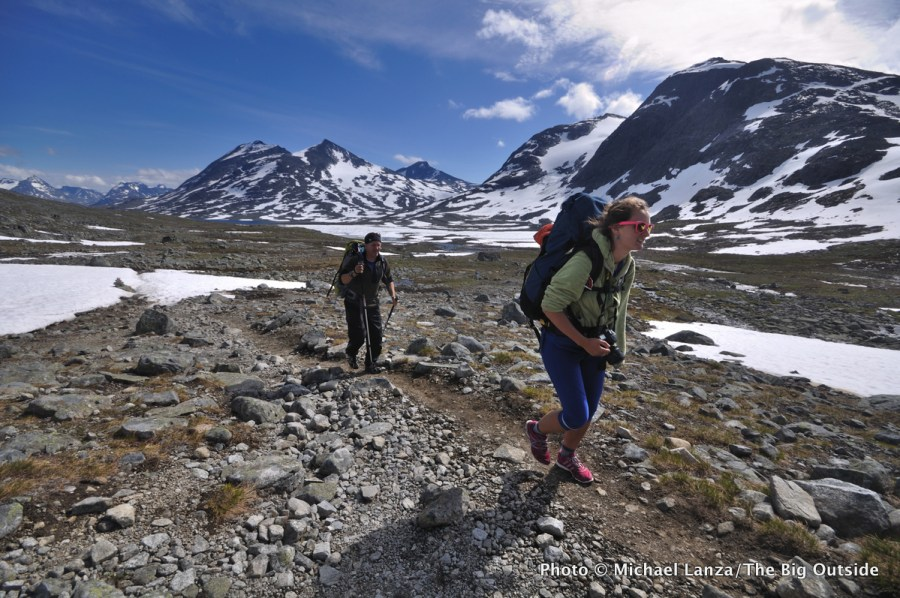 Backpackers in Norway's Jotunheimen National Park.