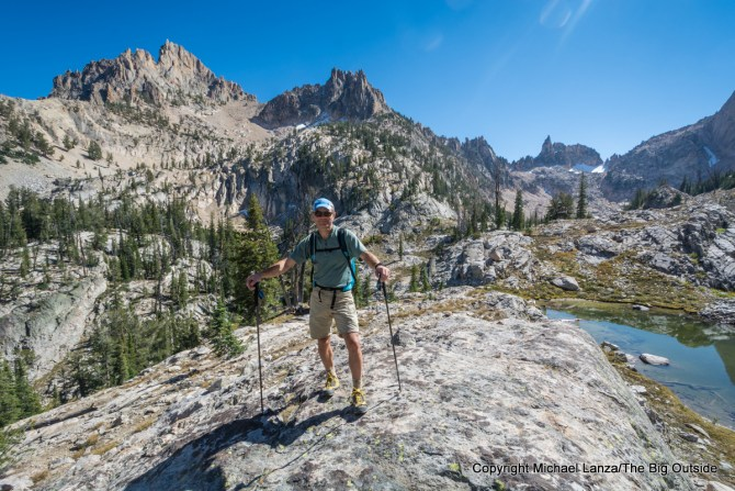 Michael Lanza of The Big Outside in the Monolith Valley, Sawtooth Mountains, Idaho.