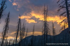 Sunset clouds above Red Eagle Lake, Glacier National Park.