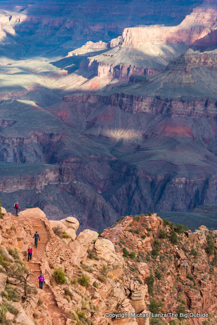 Hikers on the South Kaibab Trail, Grand Canyon.