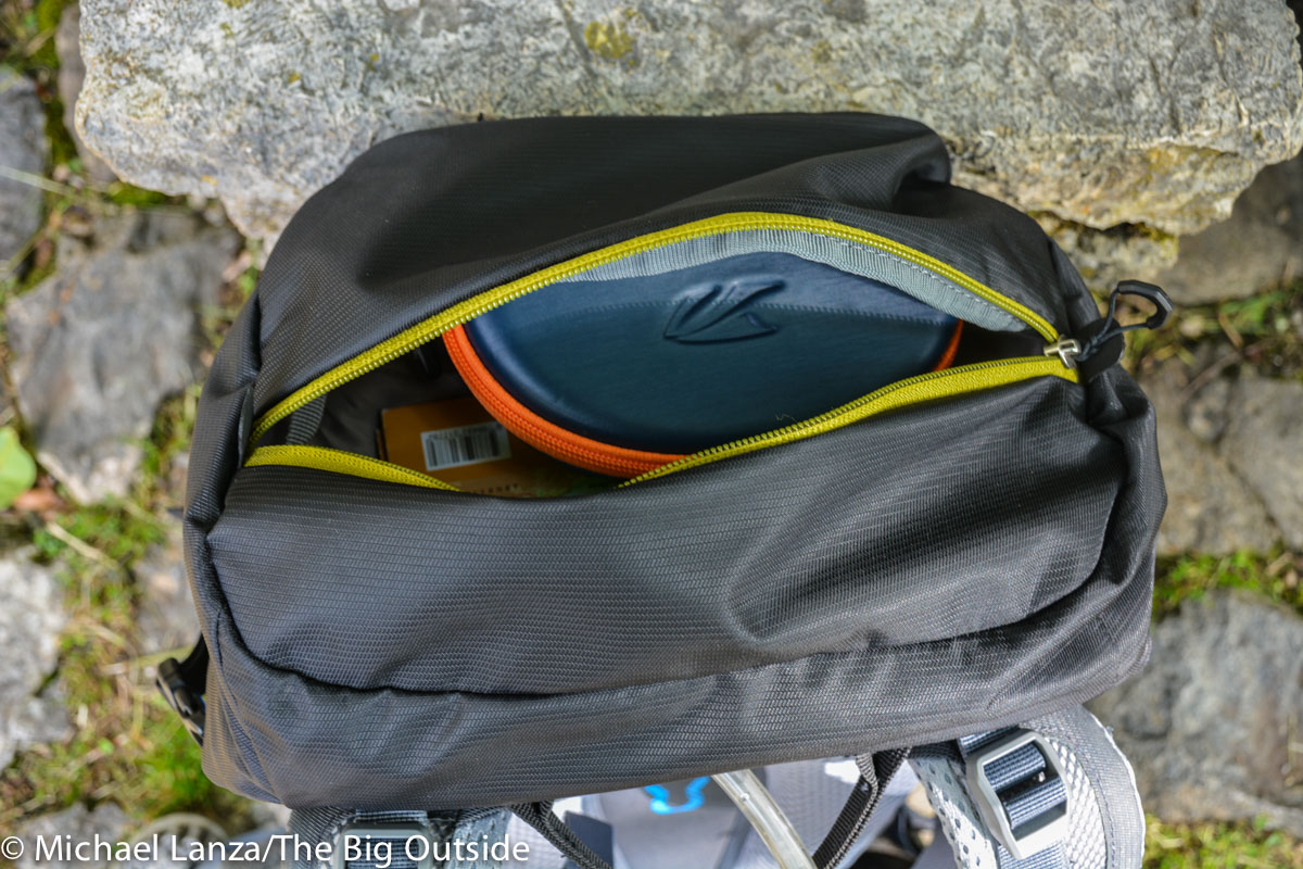 Deuter Trail Pro 36 lid pocket.