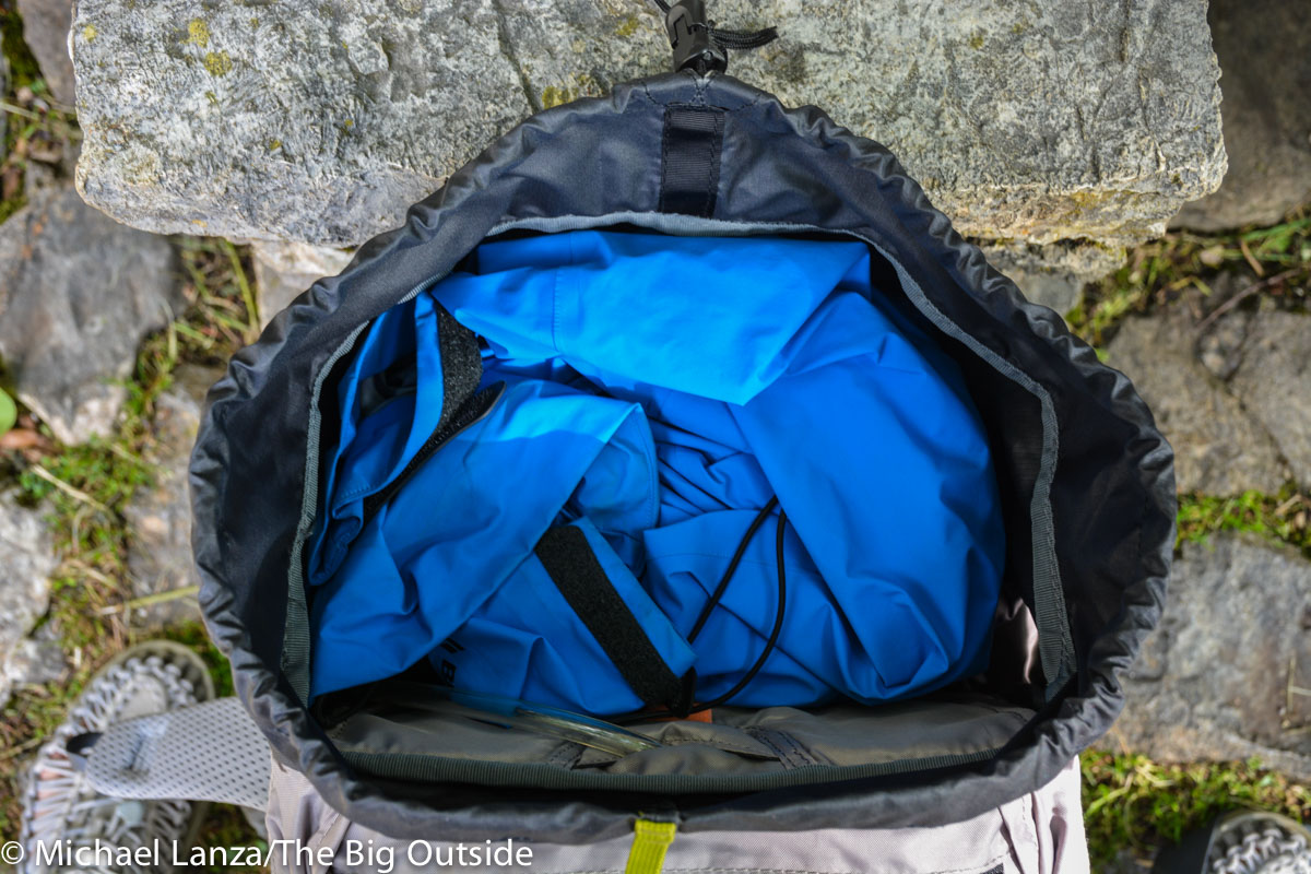 Deuter Trail Pro 36 with top open.