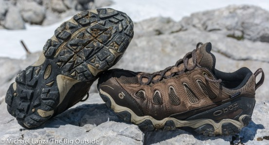 Oboz Sawtooth II Low Waterproof hiking shoes.