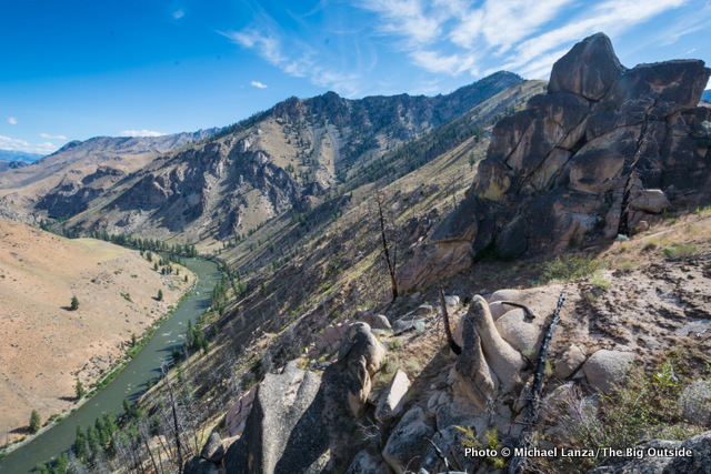 The view from Aparajo Point, above the Middle Fork Salmon River in Idaho's Frank Church-River of No Return Wilderness.