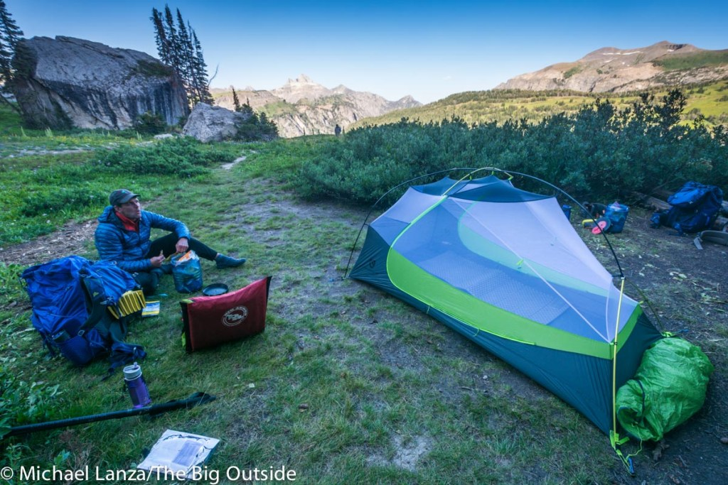The Nemo Dragonfly 2P on the Teton Crest Trail.