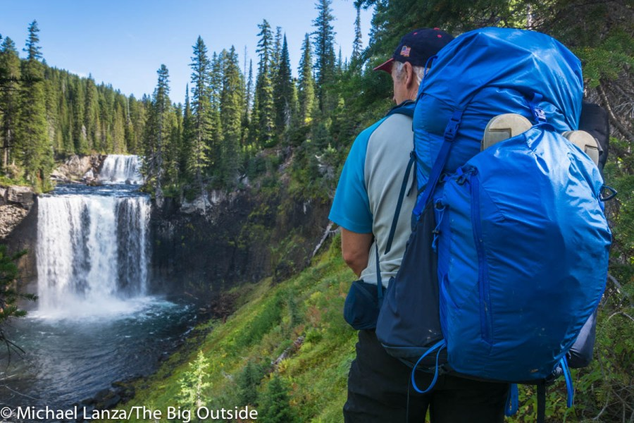 The North Face Banchee 50 in Yellowstone National Park.