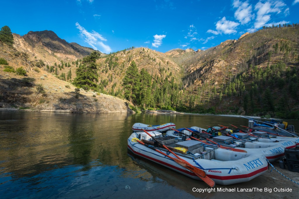 Middle Fork Rapid Transit rafts on Idaho's Middle Fork Salmon River.
