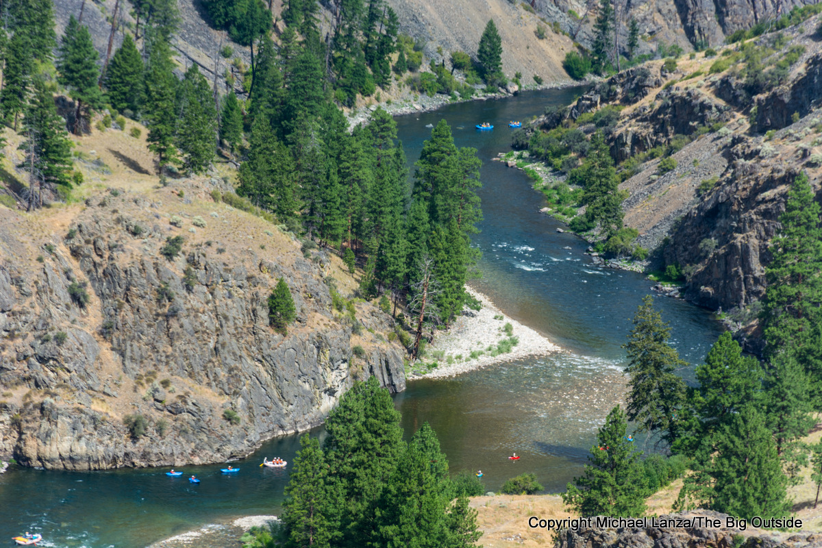Boaters on the Middle Fork Salmon River, Idaho.