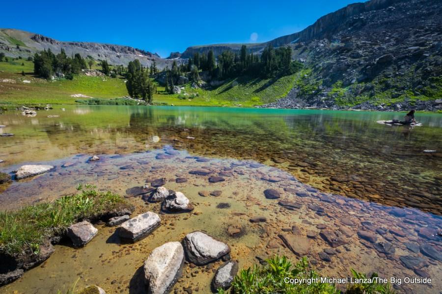 Sunset Lake, along the Teton Crest Trail in Grand Teton National Park.