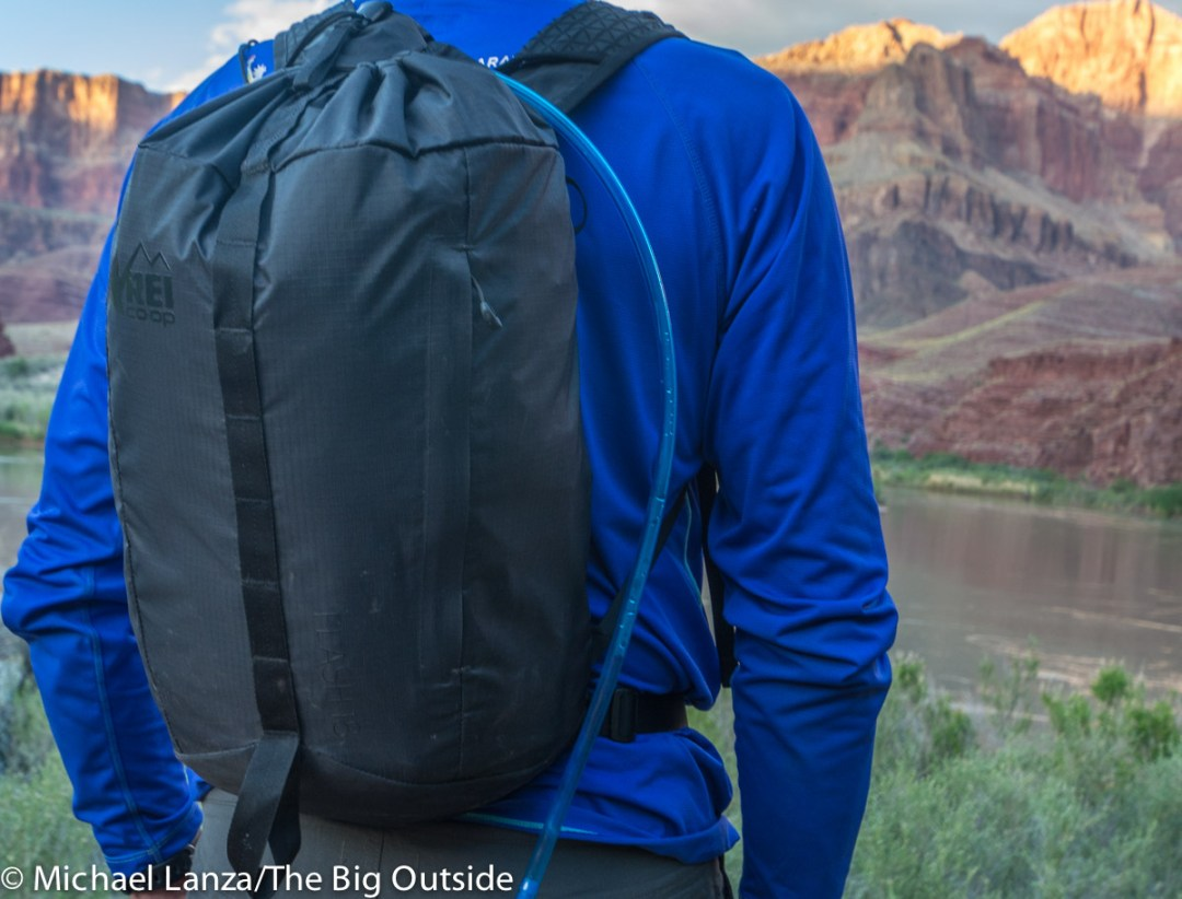 The REI Flash 18 ultralight daypack.