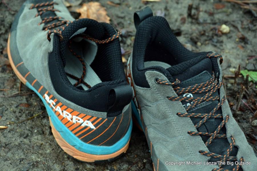 Scarpa Mescalito hiking shoes.