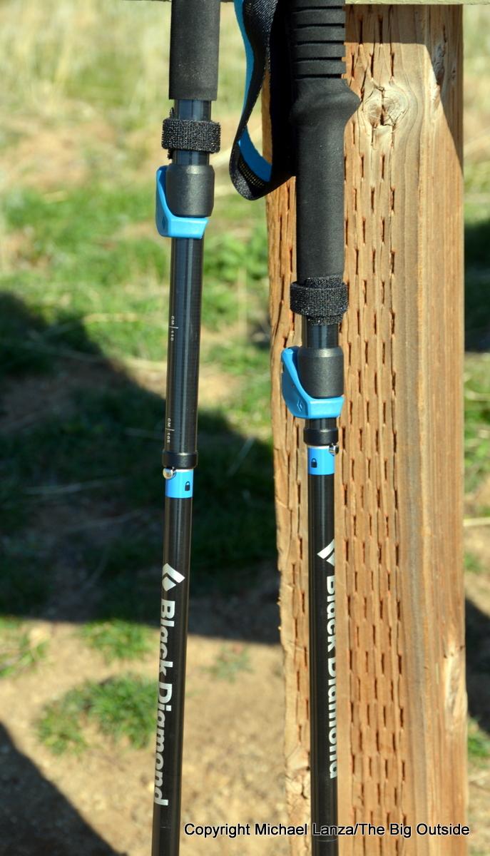Black Diamond Distance Carbon FLZ poles shafts.