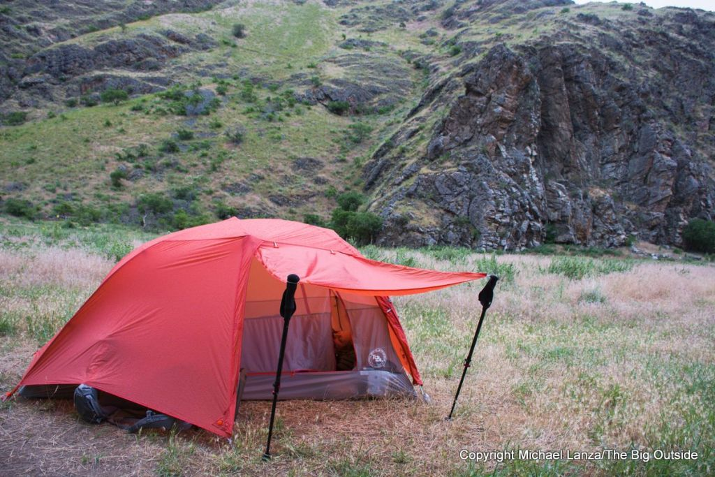 Big Agnes Copper Spur HV UL2 awning doors.
