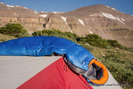 Feathered Friends Hummingbird UL 30 sleeping bag.
