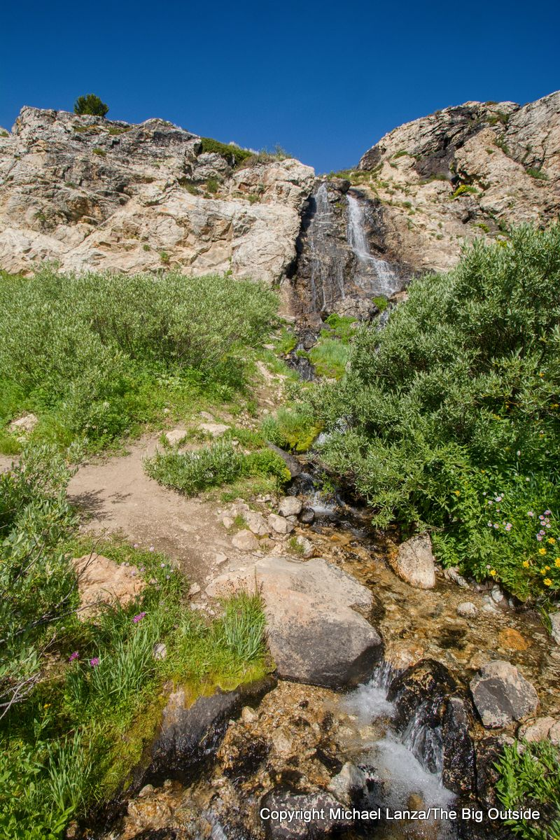 A waterfall along the Ruby Crest Trail, Ruby Mountains, Nevada.