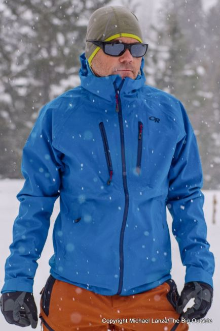 The Outdoor Research Microgravity AscentShell Jacket.