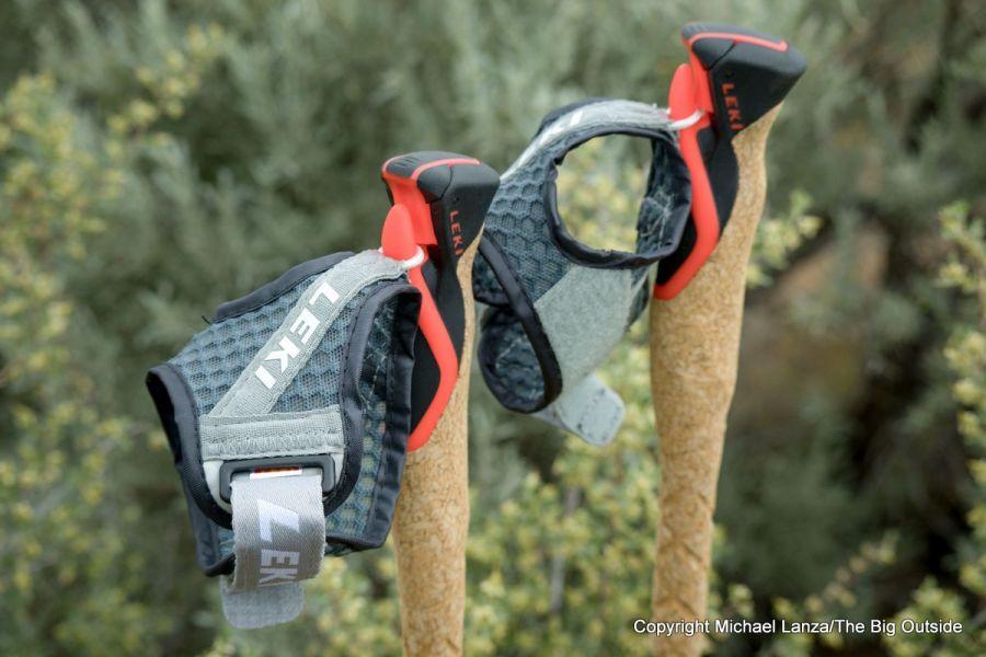 Leki MC 12 Vario poles grips and straps.