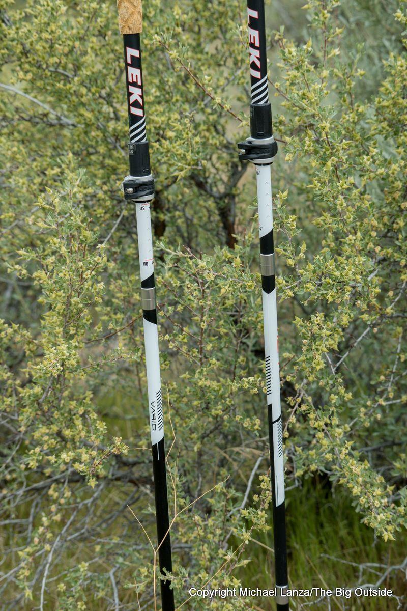 Leki MC 12 Vario poles shafts.