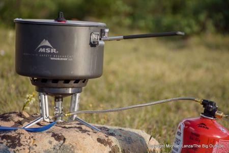 The MSR WindBurner Group Stove System.