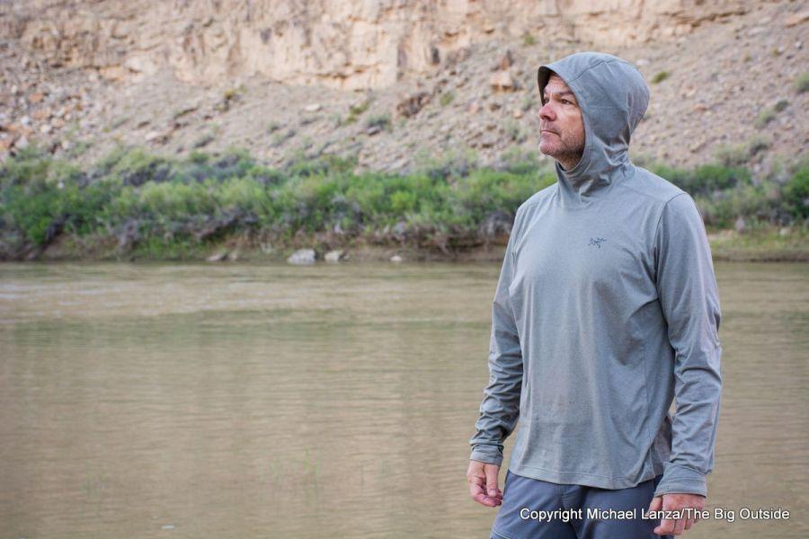 The Arc'teryx Remige Hoody on Utah's Green River.
