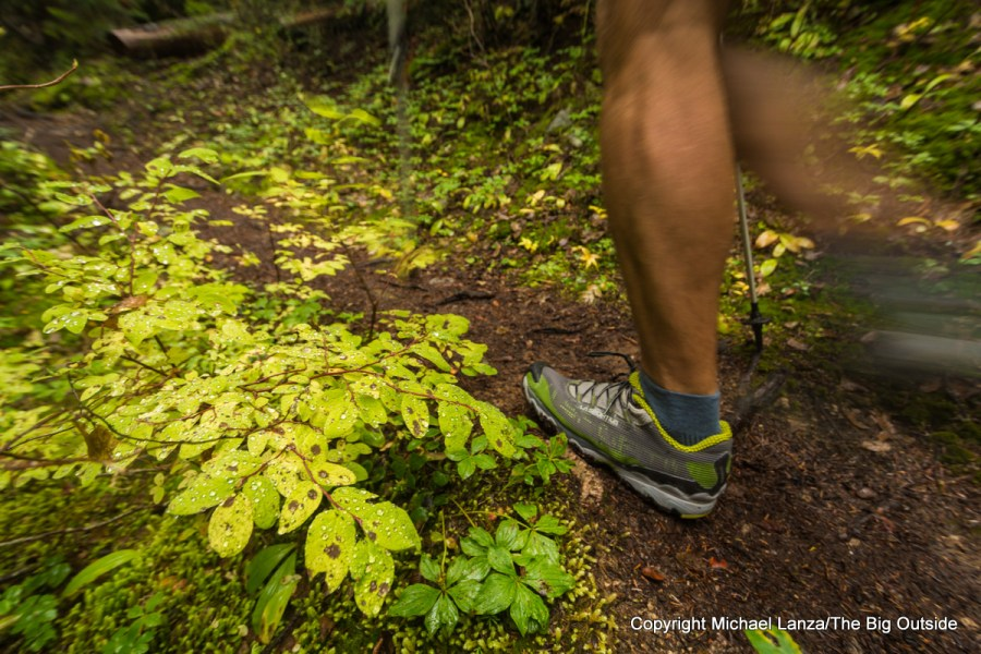 A hiker's shoes in North Cascades National Park.