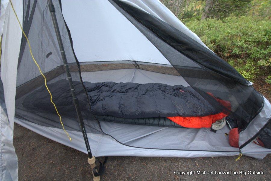 The Six Moon Designs Lunar Solo tent interior.