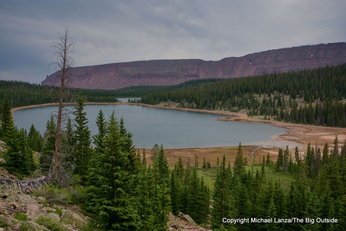 The Upper Chain Lake along the Chain Lakes Atwood Trail 43, High Uintas Wilderness, Utah.