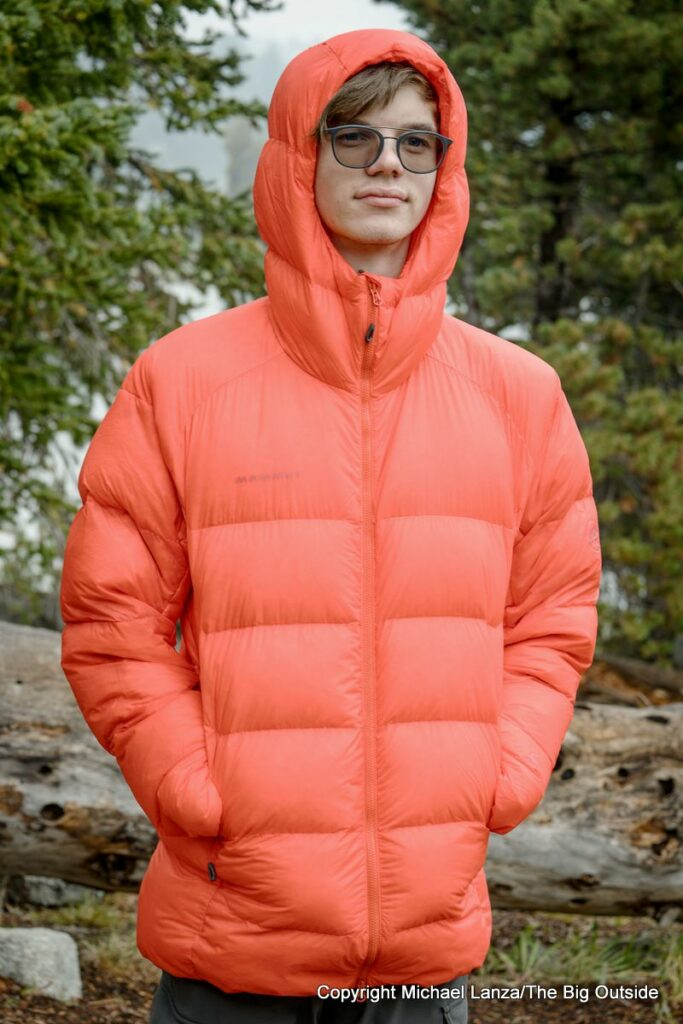 The Mammut Meron IN Hooded Down Jacket.
