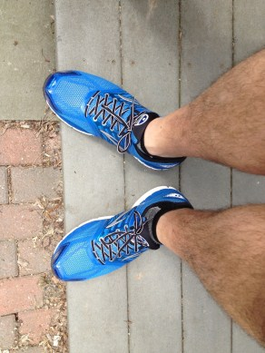 First run with the new kicks.