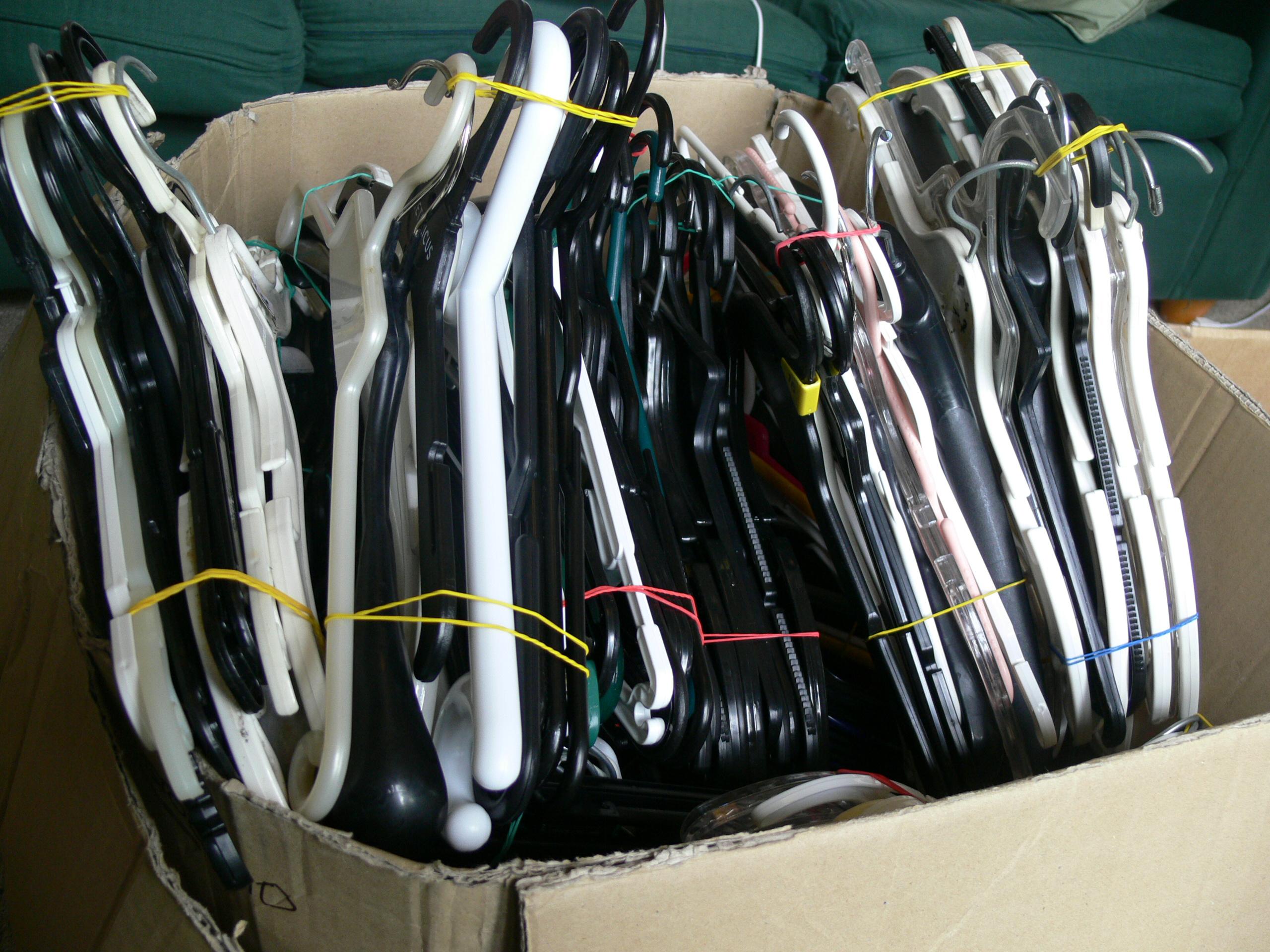 hangers in box