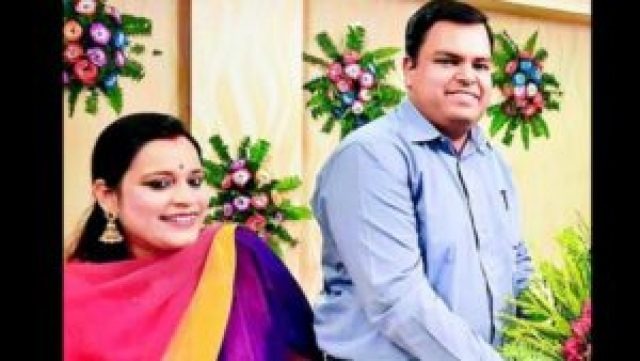 DM Mukesh Pandey with his Wife (File Photo)