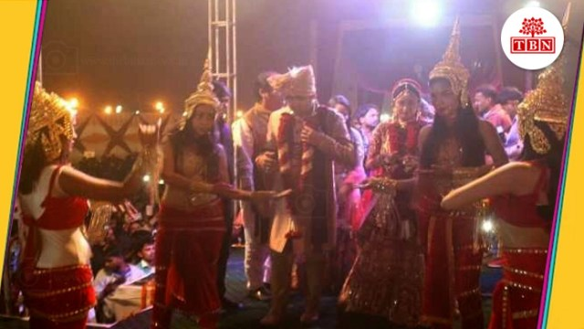 thebiharnews-in-central-minister-ram-kripal-yadav-son-marriage-ceremony-gamga-aarti-in-patna