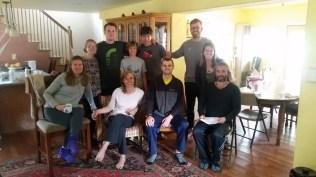 The crew in the Spiritual Retreat Center.