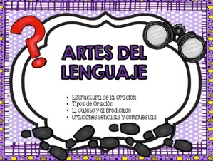 Language Arts in Spanish – Sentences