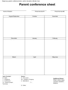 parent-conference-sheet