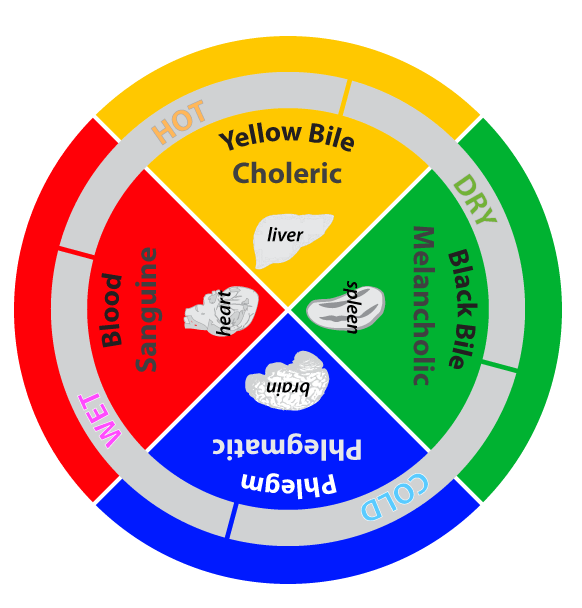 the four humours and their relationship to personality color