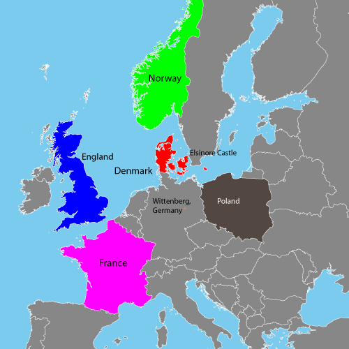 Geographical Map for Hamlet