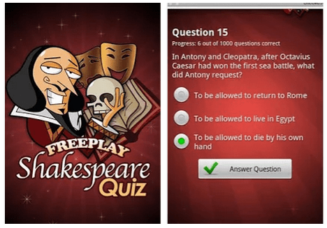 FreePlay Shakespeare Quiz by Handyx
