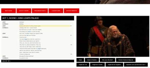 Stratford Shakespeare Festival: Performance Plus (King Lear: detail)