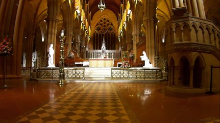 Looking from front to the altar