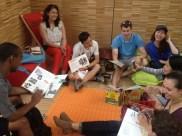 Students at the Carreau du Temple community center