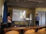 Students present their final projects to each other
