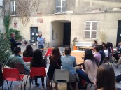 Students meet at the CRI in the Marais